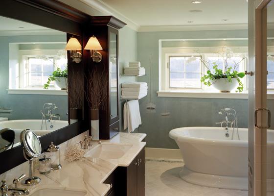 Sacris design calacatta master bath for Bathroom designs 5 x 7